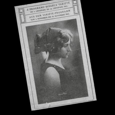 Plakát karlínského Variété