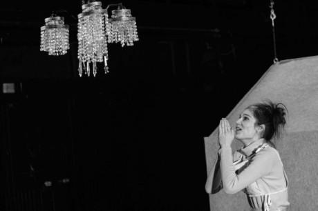 Po ukončení produkce jsem objevil, že ve foyeru na malém monitoru běží titulky, četl jsem: Studie strachu. FOTO archiv Marta