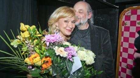 S manželem Milanem Svobodou po premiéře Sbohem, zůstávám! FOTO JIŘÍ JANOUŠEK