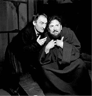 Jean Vilar (Heinrich) a Pierre Brasseur (Goetz)