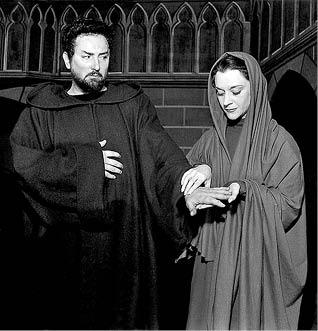 Pierre Brasseur (Goetz) a Maria Casarès (Hilda)