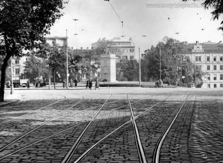 Brno, pohled od kostela sv. Tomáše, 50. léta. FOTO Encyklopedie města Brna