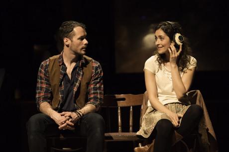 Declan Bennett (Guy) and Zrinka Cvitesic (Girl) in Once. Photo Credit Ma