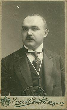 Vincenc Červinka (2. srpna 1877, Kolín – 2. října 1942, Praha). FOTO z r. 1912 Richard Jiříkovský, Praha
