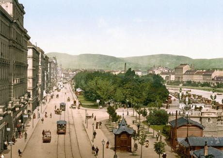Franz-Josefs-Kai, Vídeň kol. 1900. FOTO archiv