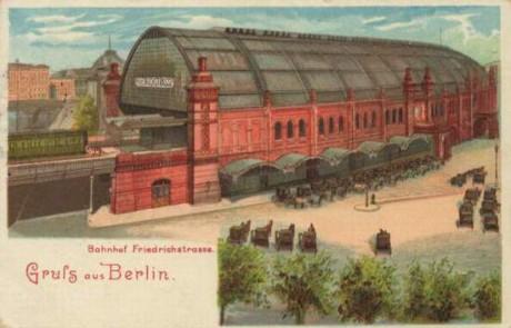Nádraží na Friedrichstraße, Berlín kol. 1900. Repro archiv