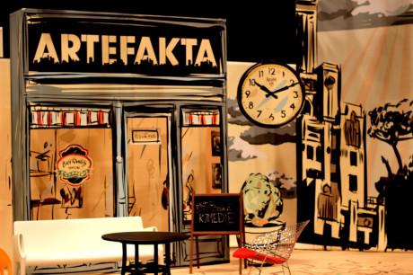 Scéna Artefakt, diskusního pořadu ČT-ART. FOTO archiv ČT