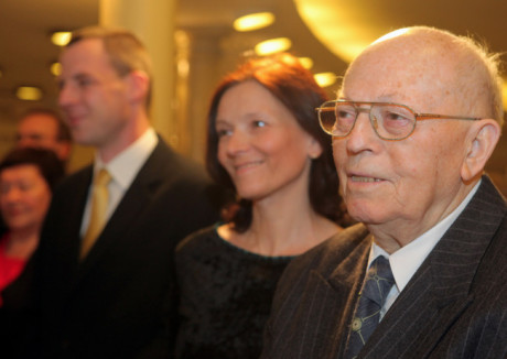 Alois Hajda na slavnostním otevření Síně slávy Národního divadla Brno 15. dubna 2011. FOTO archiv NDB