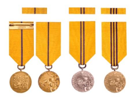 Medaile za zásluhy. Repro archiv