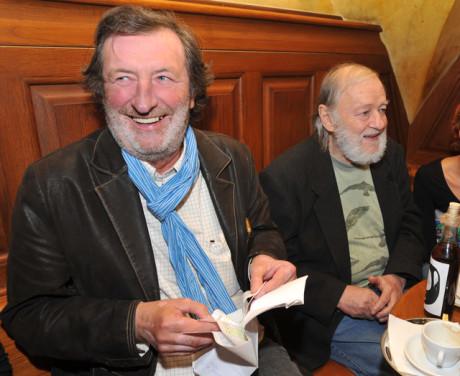 V klubu Husy se sešli i Boleslav Polívka a Jiří Pecha řečený Peca. FOTO archiv