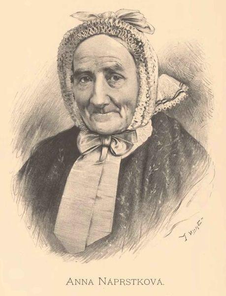Jan Vilímek: Anna Náprstková (24. 4. 1788 – 19. 10. 1873) Repro archiv