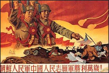 Plakát z doby korejské války. Repro archiv