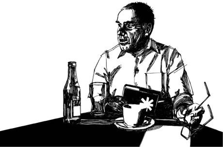 Jan Dvořák v kavárně