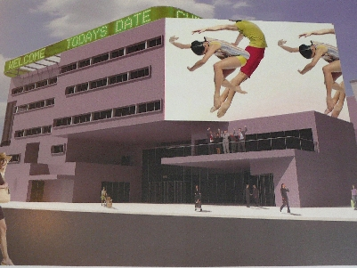 Digitální model nového divadla. Repro archiv