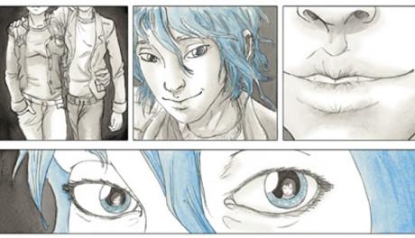 Extrait d'une planche de Le bleu est une couleur chaude de Julie Maroh, Glénat.