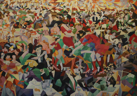 """Gino Severini:  The Dance of the Pan-Pan at the """"Monico"""". Repro archiv"""