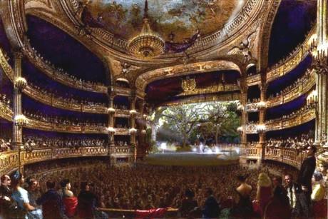 August Lauré: Grand salle of the Théâtre de l'Académie Royale de Musique, 1864