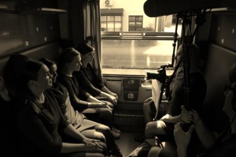Záběr z natáčení videa pro projekt S hlavou bez paty. FOTO archiv souboru