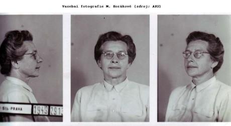 Vazební fotografie Milady Horákové. FOTO archiv  Ústavu pro studium totalitních režimů