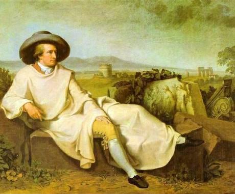 J. W. Goethe na svém putování Itálií v létě 1786. Repro archiv