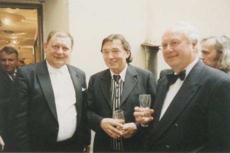 Vlevo s Karlem Gottem a Gustavem Bromem. FOTO archiv