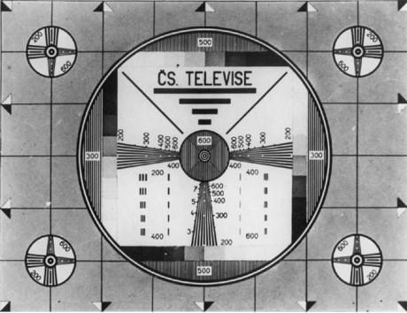 Monoskop Čs. televise, 50. léta. Repro archiv