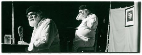 Radim Vašinka recituje Egona Bondyho na Divadelní pouti, 1990. FOTO archiv Radima Vašinky
