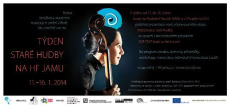Tyden stare hudby - HF JAMU - poster