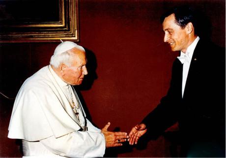 Martin Stropnický s papežem Janem Pavlem II.