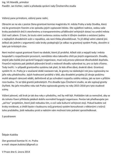 Dopis-Kubišta