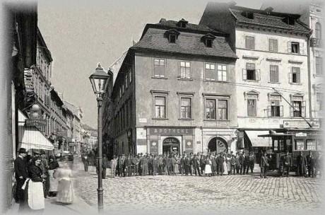 Brno, Česká ulice, 1906. FOTO archiv