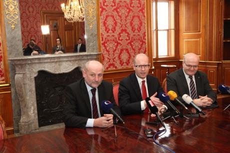 Tisková konference po uvedení nového ministra kultury do funkce. FOTO MK