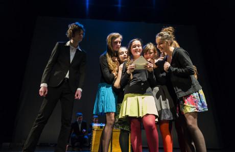 Studenti Prvního obnoveného reálného gymnázia přivezli žánrové obohacení storytellingu. FOTO