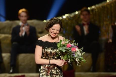 Lucie Bergerová převzala Cenu Thálie 2013 v oboru opereta, muzikál a jiné hudebnědramatické žánry.