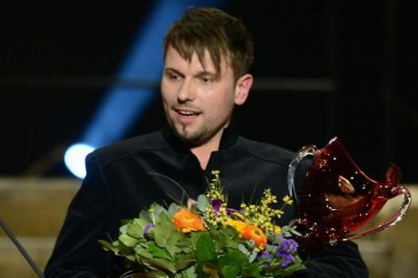 Jiří Přibyl převzal Cenu Thálie 2013 v oboru opera. FOTO: Michal Kamaryt
