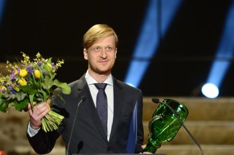 Martin Siničák převzal cenu Thálie 2013 pro činoherce do 33 let.