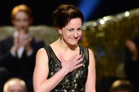 Tereza Vilišová převzala Cenu Thálie 2013 v oboru činohra. FOTO: Michal Kamaryt