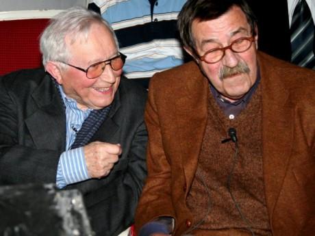 S Německým spisovatelem Güntherem Grassem v roce 2006. FOTO MICHAL KOBYLIŃSKI