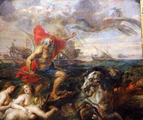 Peter Paul Rubens: Quos ego!-Neptune (olej na plátně, 1635). Repro archiv