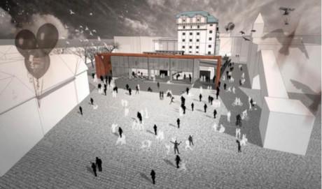 Vizualizace 4x4 Culture Factory Světovar (exteriér–náměstí)  FOTO HELIKA, A. S.