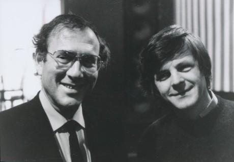 Harold Pinter a Karel Steigerwald, Praha 1990. FOTO MILOŠ FIKEJZ