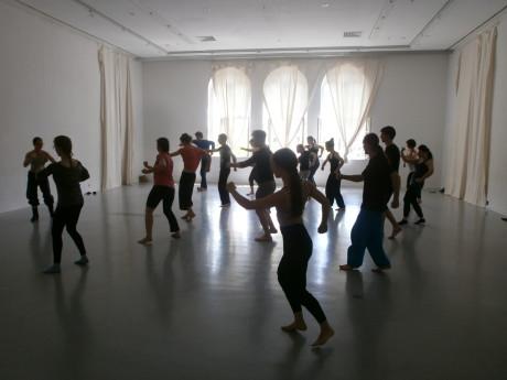 Cvičení v Mime centru FOTO AUTORKA