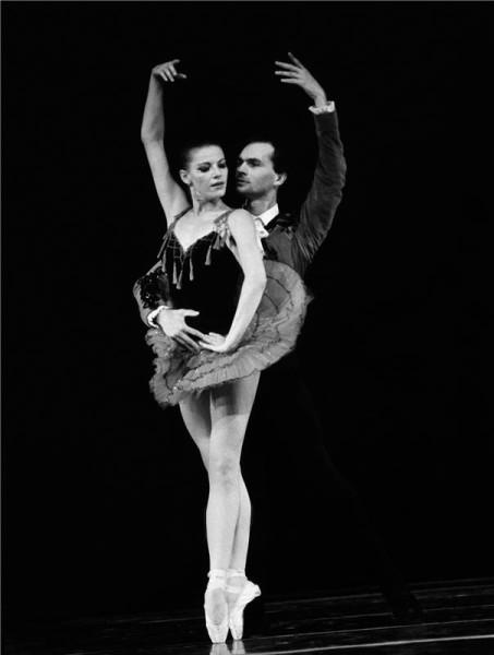 S Taťánou Juřicovou v Balet Gala classique na jevišti Národního divadla. FOTO archiv ND