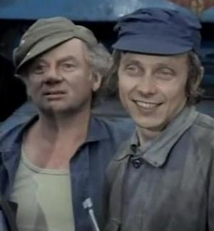 Jaroslav Kaňkovský (vpravo) a Vlastimil Hašek v seriálu Plechová kavalerie. FOTO archiv