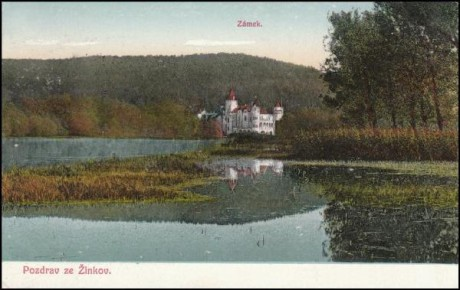 Járo, pojedeme na Žinkovy, řekla švagrová. Repro pohlednice z r. 1916 archiv