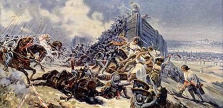 Bitva na Vítkově podle malíře Adolfa Libschera. Repro archiv