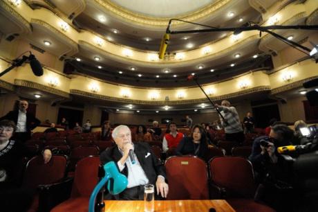 Sergej Ljubimov režírující (2008). FOTO archiv