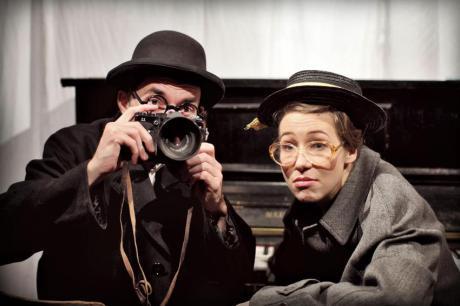 Hiří Jelínek a Anežka Kubátová alias Karel Čapek a Olga Scheinpflugová. FOTO archiv