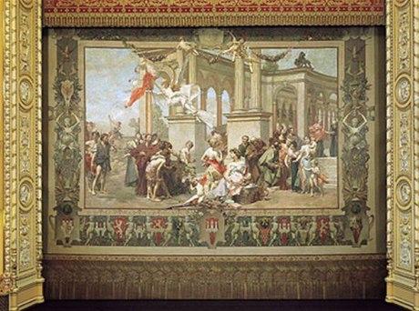 Národní divadlo - opona Vojtěcha Hynaise. Repro archiv ND