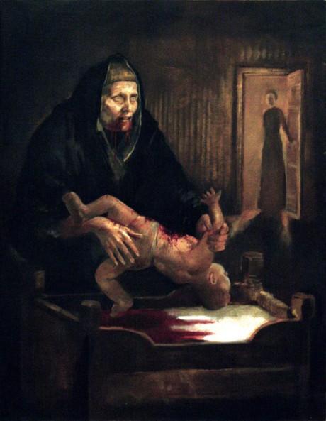 Grýla na obraze Þrándura Þórarinssona. Repro archiv